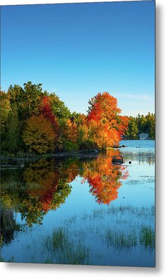 Northwood Lake Autumn Metal Print