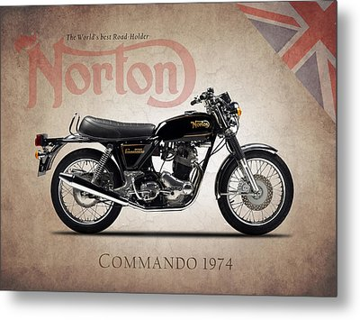 Norton Commando 1974 Metal Print by Mark Rogan