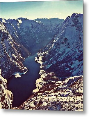 Norway Mountains Metal Print by Digital Art Cafe