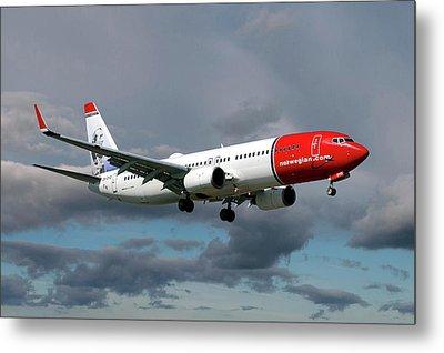 Norwegian Boeing 737-8jp Metal Print