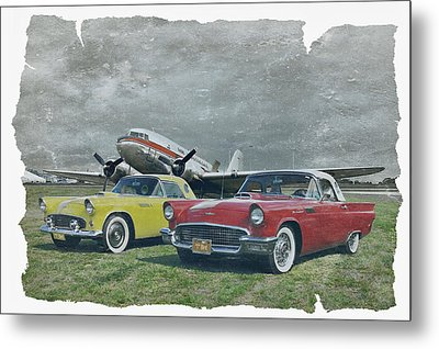 Nostalgia Airlines Metal Print by Steven Agius