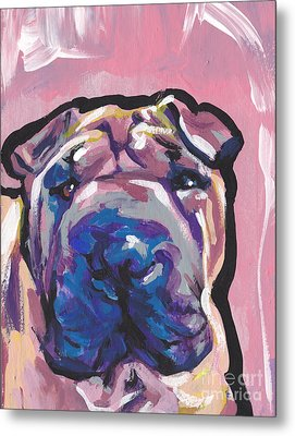 Not A Hippo- Just Hip Metal Print by Lea S