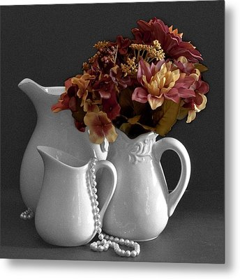 Metal Print featuring the photograph Not All Is Black And White by Sherry Hallemeier