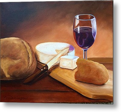 Metal Print featuring the painting Not By Bread Alone  by Susan Dehlinger