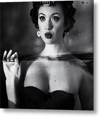 Not Drowning, Waving Metal Print by Mel Brackstone