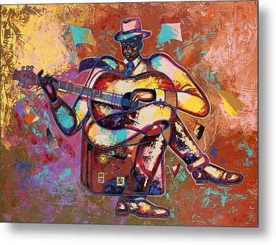 Nothin' But Da Blues Metal Print by Larry Poncho Brown