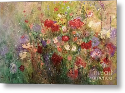 Metal Print featuring the painting Nothing But Flowers by Frances Marino