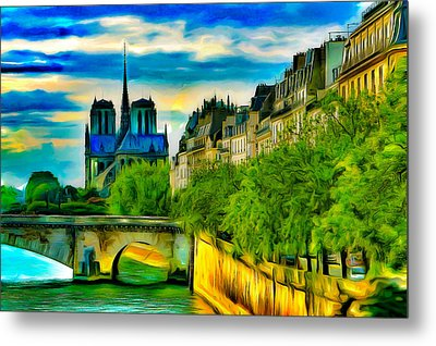 Notre-dame And The Seine Metal Print