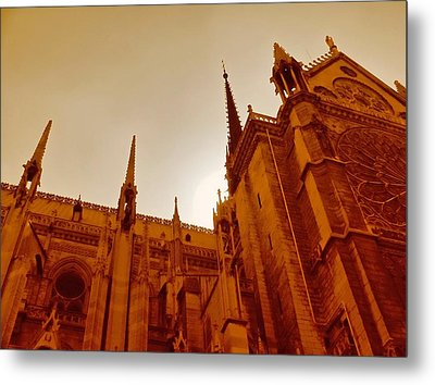 Notre Dame At Sunset Metal Print by Tony Grider