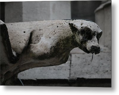 Metal Print featuring the photograph Notre Dame Bat Gargoyle by Christopher Kirby