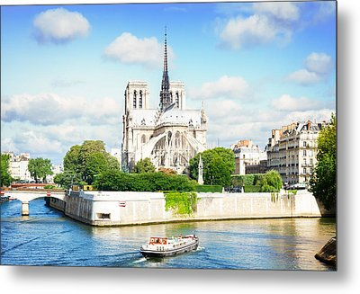 Notre Dame Cathedral, Paris France Metal Print