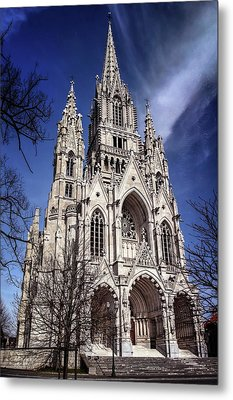 Metal Print featuring the photograph Notre Dame De Laeken In Brussels  by Carol Japp