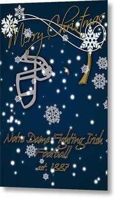 Notre Dame Fighting Irish Christmas Card Metal Print