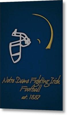 Notre Dame Fighting Irish Helmet Metal Print by Joe Hamilton