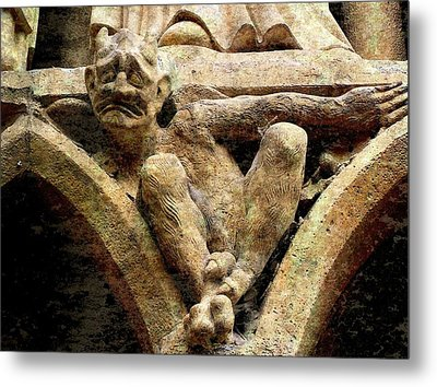 Notre Dame Gargoyle - Paris Metal Print by Jen White