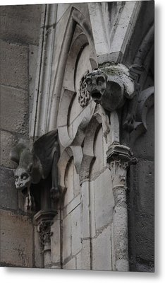 Metal Print featuring the photograph Notre Dame Grotesques by Christopher Kirby