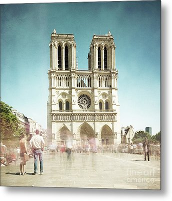 Metal Print featuring the photograph Notre Dame by Hannes Cmarits