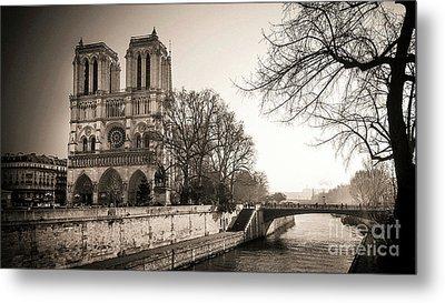 Notre Dame Of Paris And The Quays Of The Seine. Paris. France. City Metal Print