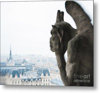 Notre Dame Paris Guardian Metal Print by Sonja Quintero