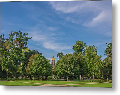 Metal Print featuring the photograph Notre Dame University 6 by David Haskett