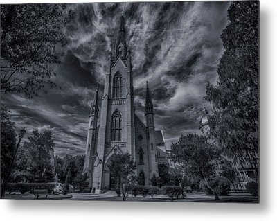 Notre Dame University Church Metal Print by David Haskett