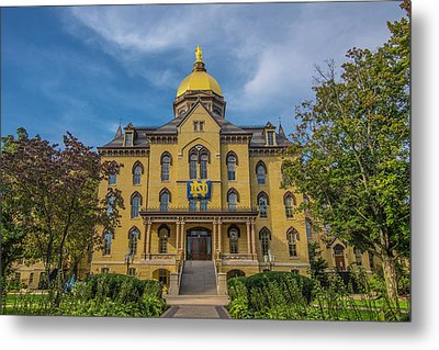 Notre Dame University Golden Dome Metal Print by David Haskett