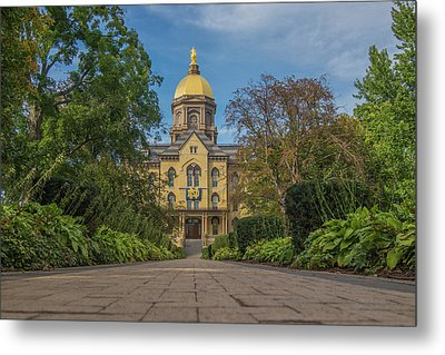 Notre Dame University Q Metal Print by David Haskett