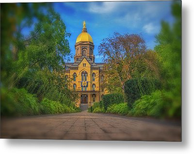 Notre Dame University Q2 Metal Print by David Haskett