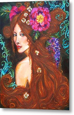 Nouveau Beauty Metal Print by Kimberly Van Rossum