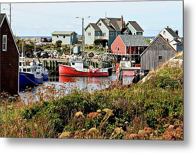Metal Print featuring the photograph Nova Scotia Fishing Community by Jerry Battle