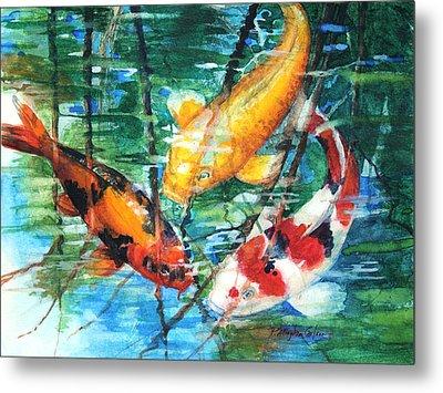 November Koi Metal Print by Patricia Allingham Carlson