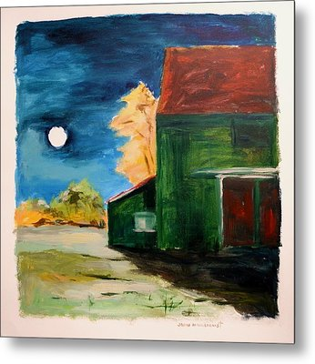 Metal Print featuring the painting November Moon Rising by John Williams