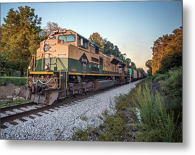 Ns Heritage Reading Lines Heritage Unit At Sullivan In Metal Print by Jim Pearson