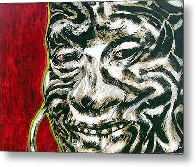 Nuba Paint Metal Print by Chester Elmore