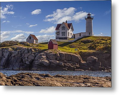 Nubble Light Metal Print by Capt Gerry Hare