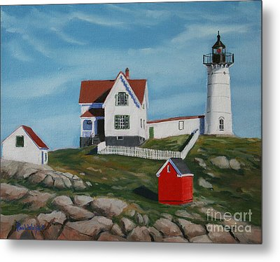 Nubble Light House Metal Print by Paul Walsh