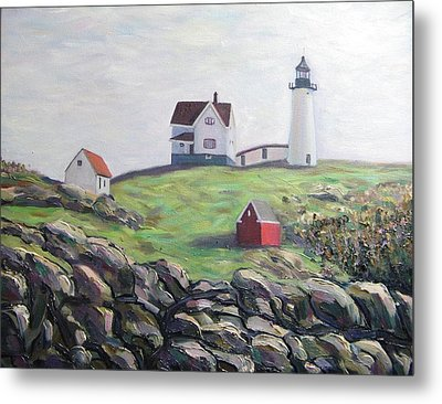Nubble Light House Metal Print by Richard Nowak
