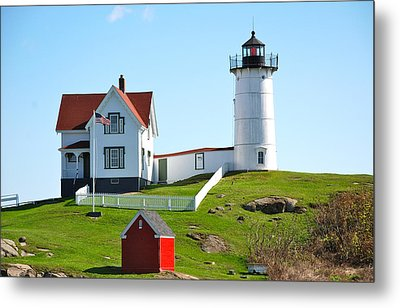 Nubble Lighthouse Metal Print by Eric Tressler