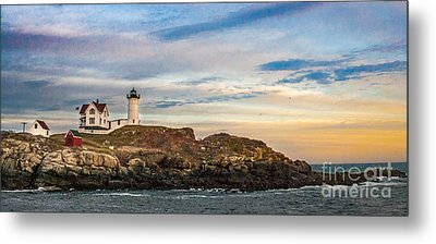 Nubble Lighthouse, York, Maine Metal Print by Ken Marsh