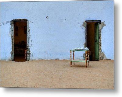 Nubian House In Egypt Metal Print by Joana Kruse