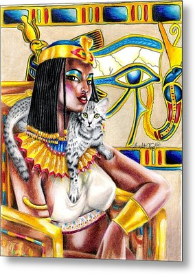 Nubian Queen Metal Print by Scarlett Royal