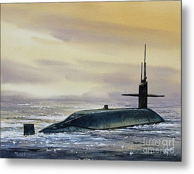 Nuclear Submarine Metal Print by James Williamson