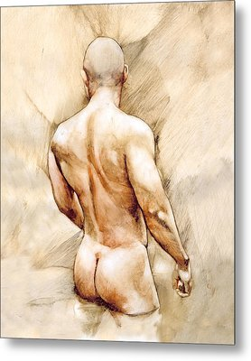Nude 40  Metal Print by Chris Lopez