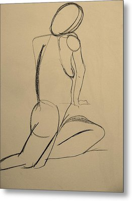 Nude Drawing 2 Metal Print by Kathleen Fitzpatrick