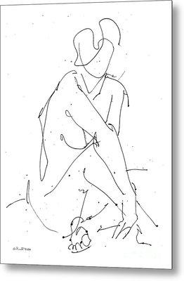 Nude-female-drawing-19 Metal Print