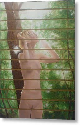 Nude Forest Metal Print by Angel Ortiz