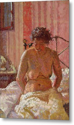 Nude In An Interior Metal Print by Harold Gilman