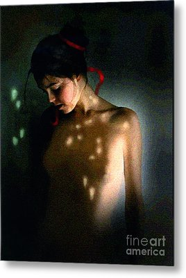 Nude Light Metal Print by Robert Foster