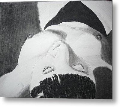Nude Napper Metal Print by Cathy Jourdan