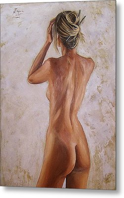 Metal Print featuring the painting Nude by Natalia Tejera